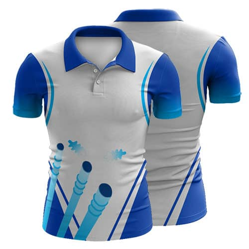 Design Your Own Printed Cricket Polo Shirts Custom Made
