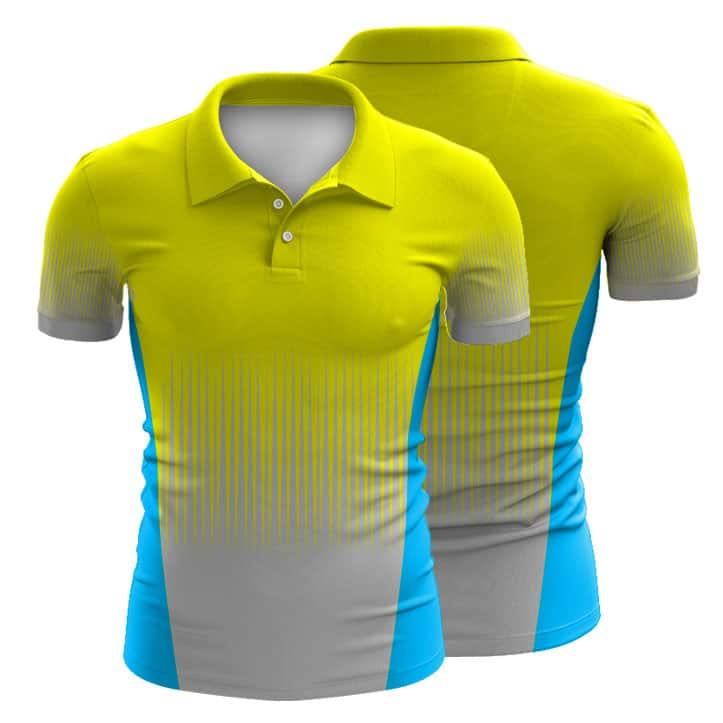 Sublimated hi vis polo shirt 002 custom made uniforms for Custom tailored polo shirts