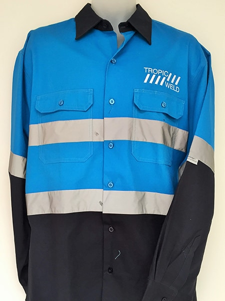Custom Made Cotton Drill Hi Vis Work Shirt For Tropic Weld