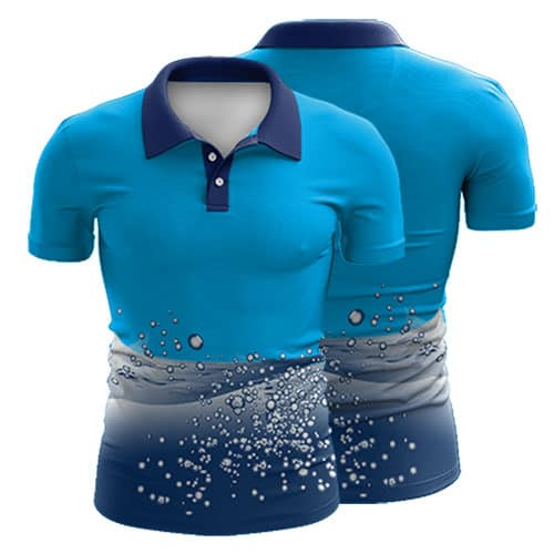Sublimated Swimming Polo Shirt 007 - Custom Made Uniforms