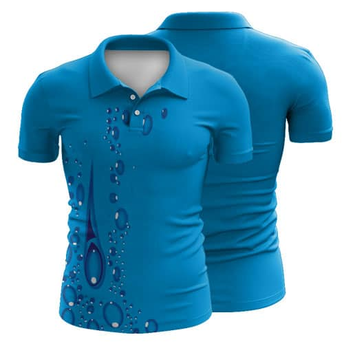 Sublimated Swimming Polo Shirt 006 - Custom Made Uniforms