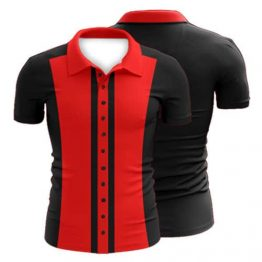 Sublimated Ten Pin Bowling Shirt 001 - Custom Made Uniforms
