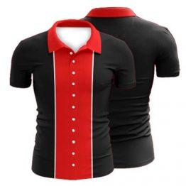 Sublimated Ten Pin Bowling Polo Shirt 004 - Custom Made Uniforms