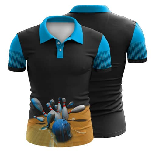 Sublimated Ten Pin Bowling Polo Shirt 005 - Custom Made Uniforms