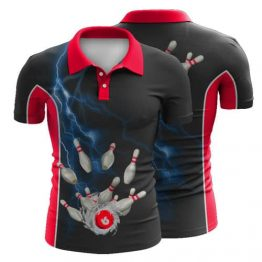 Sublimated Ten Pin Bowling Polo Shirt 006 - Custom Made Uniforms