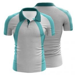Sublimated Swimming Polo Shirt 004 Custom Made Uniforms