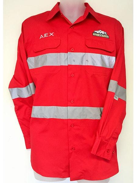 Hi-Vis Cotton Drill Work Shirt for Gilbert Mining