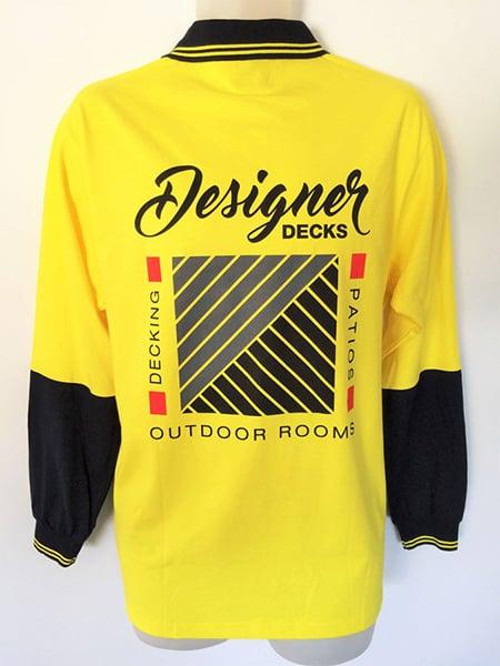 Cotton Jersey Work Shirt for Designer Decks - Custom Made Uniforms - Workwear
