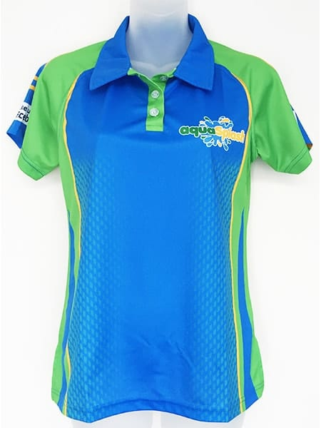 Sublimated Polo Shirt for Aqua Splash - Custom Made Uniforms