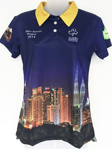 Sublimated Polo Shirt for Girl Guides - Custom Made Uniforms