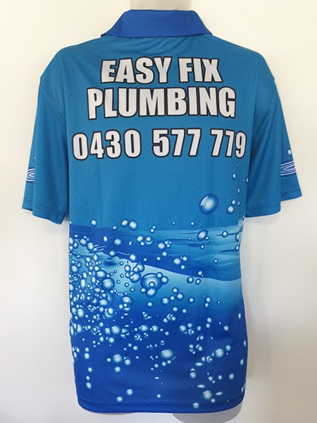 Sublimated Polo Shirt for Easy Fix Plumbing - Custom Made Uniforms