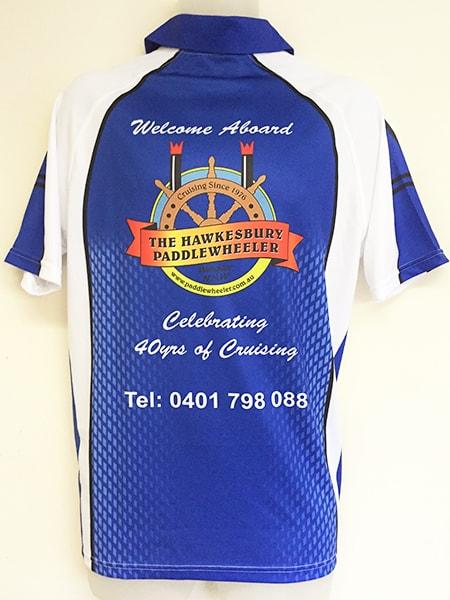 Sublimated Polo Shirt for Hawkesbury Paddlewheeler - Custom Made Uniforms
