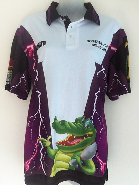 Sublimated Polo Shirt for Innisfail Ten Pin Bowling - Custom Made Uniforms