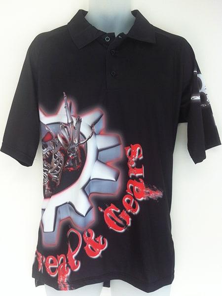 Sublimated Polo Shirt for SG - Custom Made Uniforms