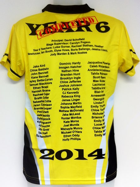 Sublimated Polo Shirt for-Tahmoor Primary School - School Leavers Jerseys - Custom Made Uniforms