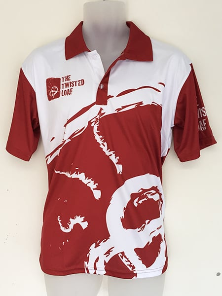 Sublimated Polo Shirt for The Twisted Loaf - Custom Made Uniforms
