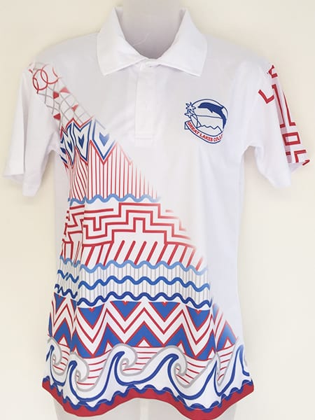Sublimated Polo Shirt for-Tuncurry High School - School Leavers Jerseys - Custom Made Uniforms