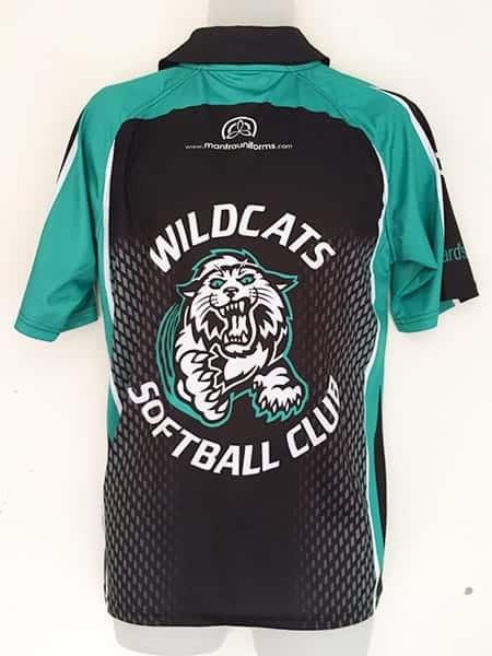 Sublimated Polo Shirt for-Wildcat's Softball Club - Custom Made Uniforms