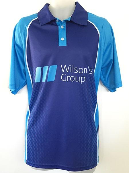 Sublimated Polo Shirt for-Wilson's Group - Custom Made Uniforms