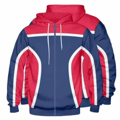 Sublimated Zipper Front Hoodie 003 - Custom Made Uniforms