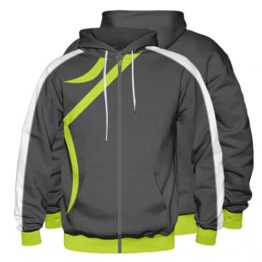 Sublimated Zipper Front Hoodie 004 - Custom Made Uniforms