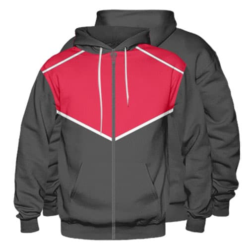 Sublimated Zipper Front Hoodie 005 - Custom Made Uniforms