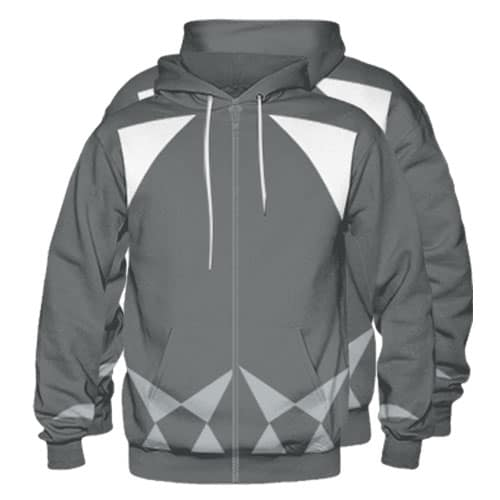 Sublimated Zipper Front Hoodie 006 - Custom Made Uniforms
