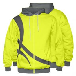Sublimated Zipper Front Hoodie 007 - Custom Made Uniforms