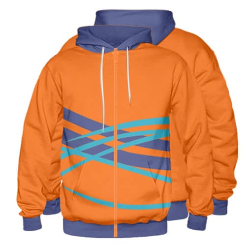 Sublimated Zipper Front Hoodie 008 - Custom Made Uniforms