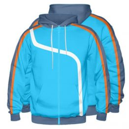 Sublimated Zipper Front Hoodie 010 - Custom Made Uniforms