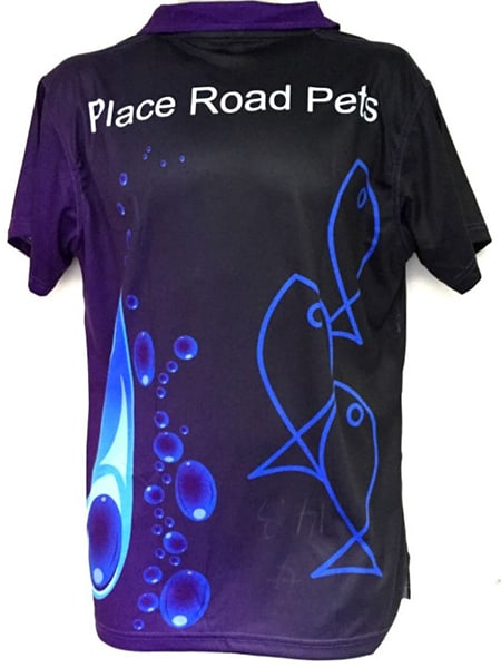 Custom Made Polo Shirt for Place Road Pets