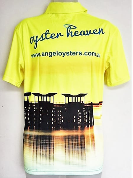 Sublimated Polo Shirt for Oyster Heaven - Custom Made Uniforms
