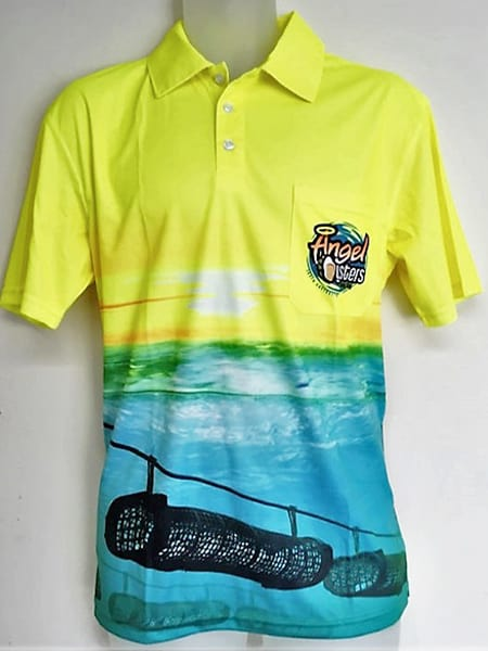 Custom Made Polo Shirt for Oyster Heaven