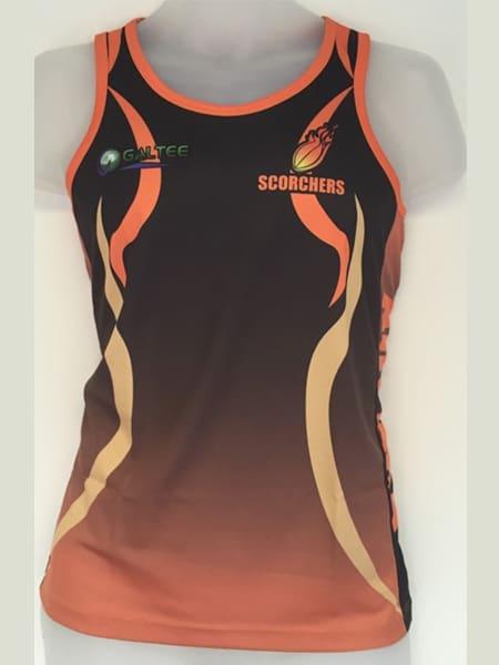 Custom Made Singlet for Kalgoolie Scorchers - Custom Made Uniforms