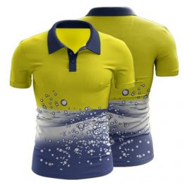 Sublimated Hi Vis Workwear Polo Shirt - Custom Made Uniforms