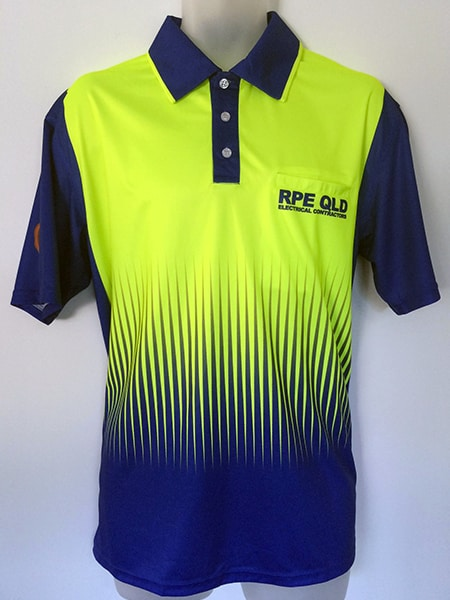 Printed (Sublimated) Hi Vis Polo Shirt for RPE QLD