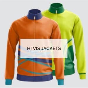 Printed Custom Hi Vis Jackets - Custom Made Uniforms